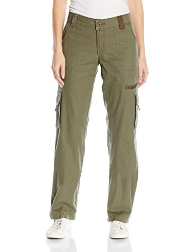 Dickies Women's Relaxed Cargo Pant Rinsed Grape Leaf Green