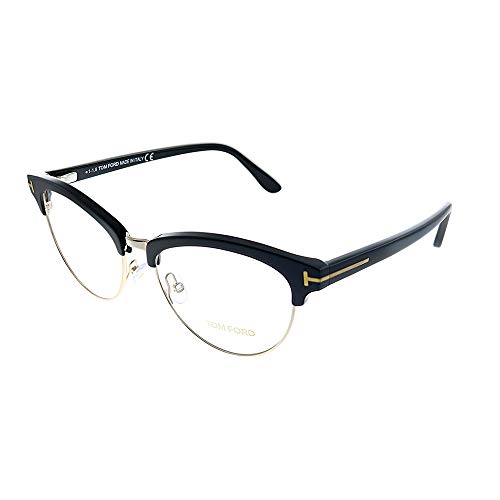 Tom Ford FT Black Plastic Oval Eyeglasses 53mm