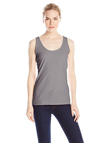 Hanes Women's Scoop Neck Tank Top, Light Steel