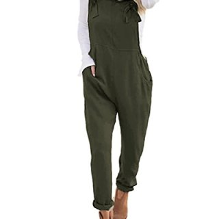 StyleDome Women's Sleeveless Overall Strappy Pocket Jumpsuit Baggy Romper