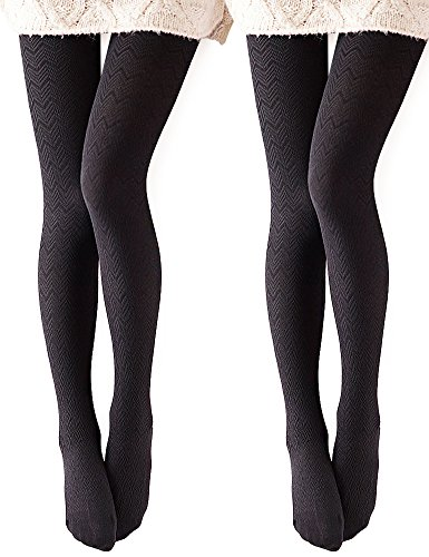 VERO MONTE 2 Pairs Opaque Tights 4 Women Control Top Tights