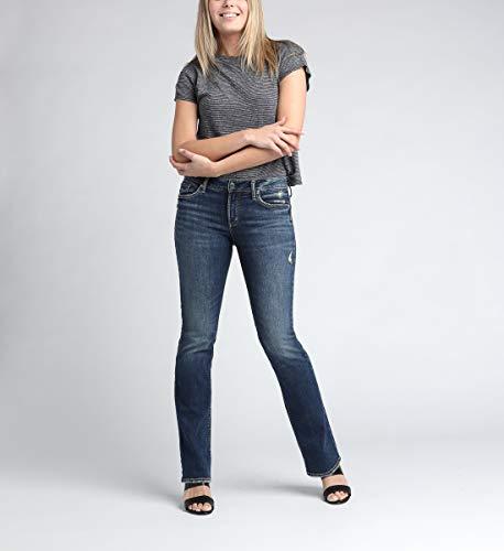 Silver Jeans Co. Women's Suki Slim Boot, Dark Indigo Wash