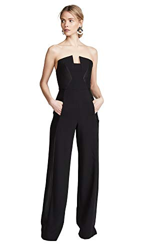 Black Halo Women's Lena CB Jumpsuit, Black
