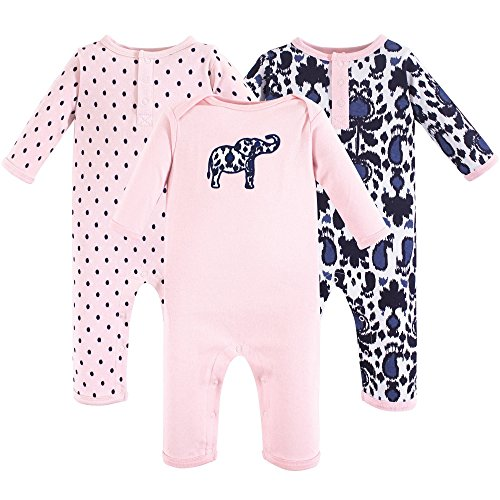 Yoga Sprout Cotton Union Suit, 3 Pack, Ikat Elephant