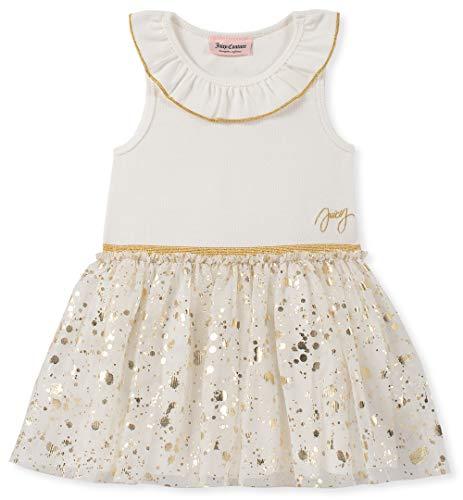 Juicy Couture Baby Girls Dress, Vanilla/Gold, 18M