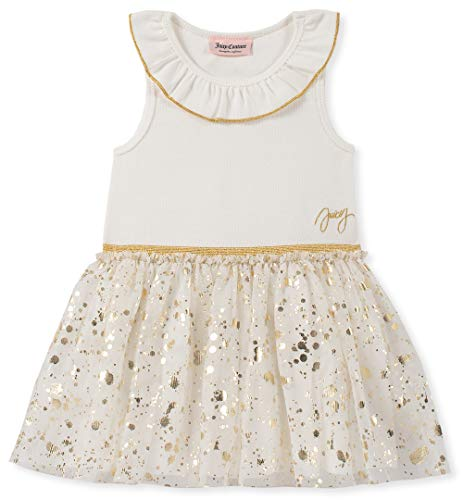 Juicy Couture Baby Girls Dress, Vanilla/Gold, 18M