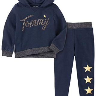 Tommy Hilfiger Baby Girls 2 Pieces Jog Set, Peacoat