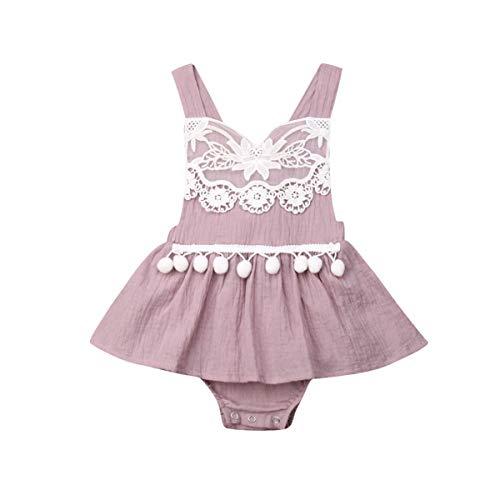 Baby Girl Lace Romper Dress Infant Newborn Summer 1Pcs Suspender Sleeveless