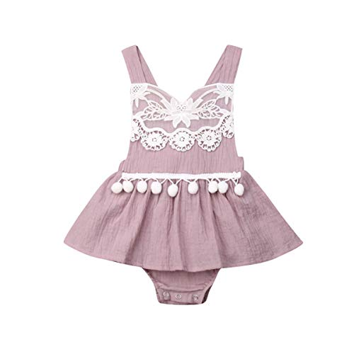 Baby Girl Lace Romper Dress Infant Newborn Summer 1Pcs Suspender Sleeveless