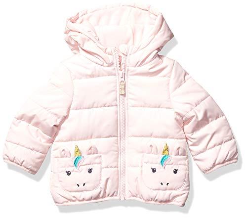 Carter's Baby Girls Fleece Lined Critter Puffer Jacket Coat, Pink Unicorn
