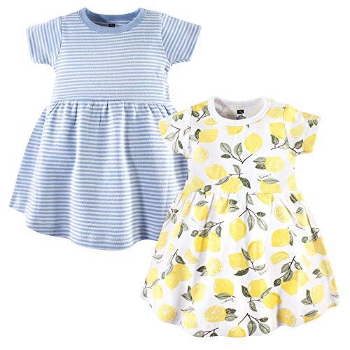 Hudson Baby Baby and Toddler Girl Cotton Dresses, Lemons