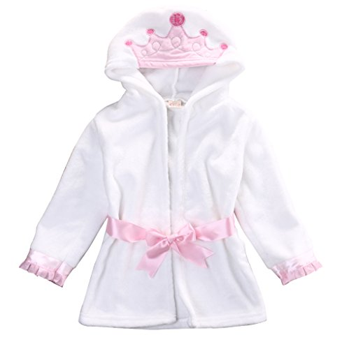 Glosun Baby Coral Fleece Bathrobe Toddler Kids Hooded Terry Robe Cartoon