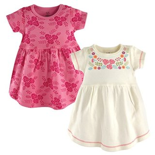 Touched by Nature Girls, Toddler, and Baby Organic Cotton Short-Sleeve Dresses