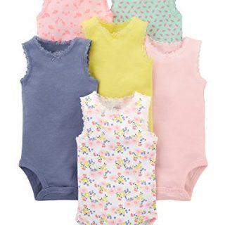 Simple Joys by Carter's Baby Girls' 6-Pack Sleeveless Bodysuit, Pink
