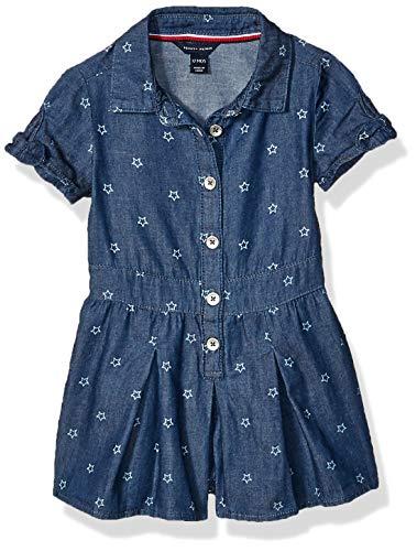Tommy Hilfiger Baby Girls Fashion Romper, Star Hudson wash