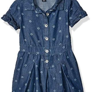 Tommy Hilfiger Baby Girls Fashion Romper, Star Hudson wash
