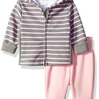 Hanes Ultimate Baby Flexy Adjustable Fit Jogger with Zippin Fleece Hoodie