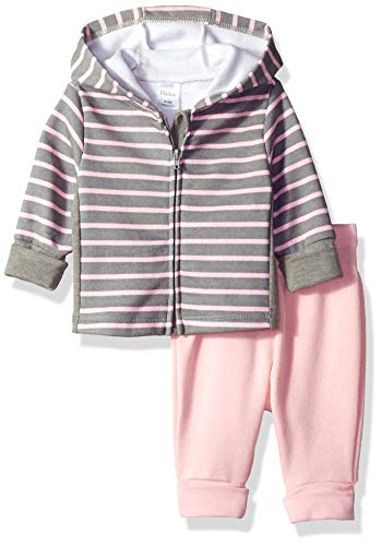 Hanes Ultimate Baby Flexy Adjustable Fit Jogger with Zippin Fleece Hoodie