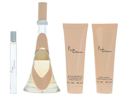 Nude by Rihanna for Women 4 Piece Set Includes: 3.4 oz Eau de Parfum Spray
