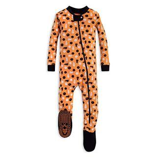 Burt's Bees Baby Baby Boys Unisex Pajamas, Zip-Front Non-Slip Footed Sleeper PJs