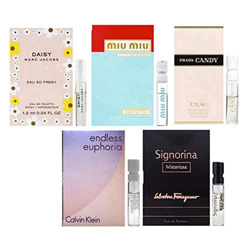 Women's Designer Perfume Samples Set of 5 - ALL High end perfume sample Lot