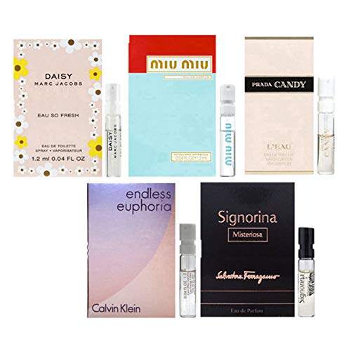 Women's Designer Perfume Samples Set of 5 - ALL High end perfume sample Lot