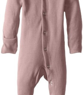 L'ovedbaby Unisex-Baby Organic Cotton Footed Overall, Mauve