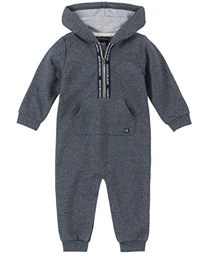 Calvin Klein Baby Boys Coverall, Gray Heather