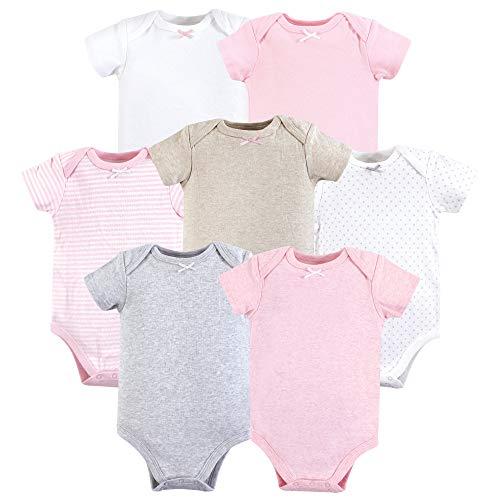Hudson Baby Unisex Baby Cotton Bodysuits, Girl Basic