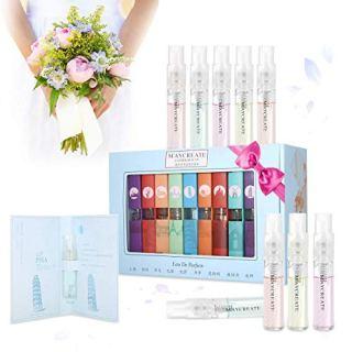 Hot Sale ! 1Set Of 9 PCS Perfume Gift Set for Women, Mini Scent Fragrances Spray