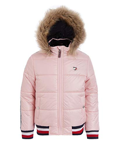 Tommy Hilfiger Toddler Girls' Quilted Puffer Jacket, Taping Crystal Rose