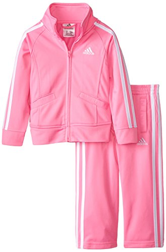adidas girls Event Tricot Jacket Set Pink