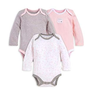 Burt's Bees Baby Unisex Baby Bodysuits, 3-Pack Long & Short One-Pieces