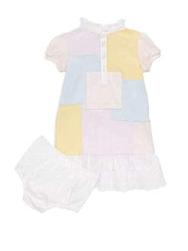 Ralph Lauren Baby Girls Color-Block Patchwork Cotton Dress and Bloom Set