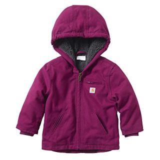Carhartt Baby Girls Sherpa Lined Jacket Coat, Plum