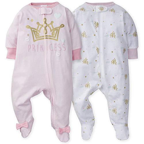 GERBER Baby Girls 2-Pack Sleep 'N Play