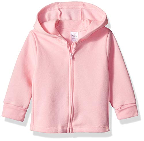 Hanes Ultimate Baby Zippin Fleece Hoodie, Precious Rose/Pink Freeze