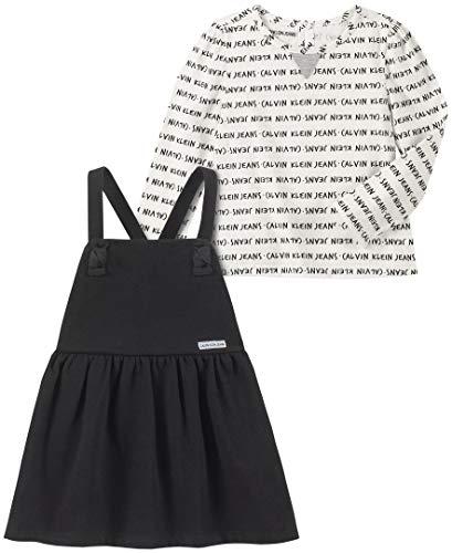 Calvin Klein Baby Girls 2 Pieces Dress, Black/Print