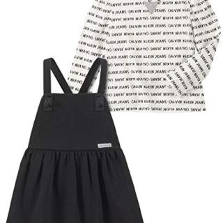 Calvin Klein Baby Girls 2 Pieces Dress, Black/Print