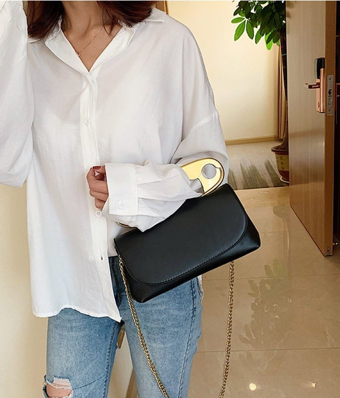 Leather Handbag Women Designer Chains flap