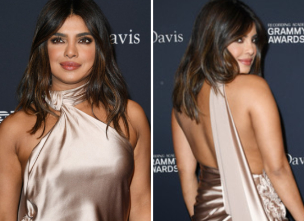 Priyanka Chopra goes glamorous in champagne colour Nicolas Jebran backless gown for Pre Grammys 2020 party