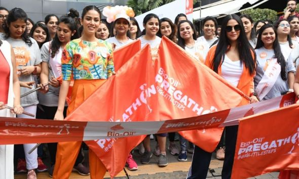 Mira Rajput And Neha Dhupia Flag Off Mumbai Pregathon
