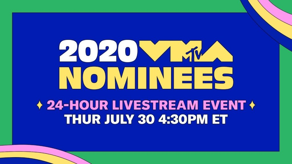 2020 vma nominees audio films 24 hour livestream mtv 1
