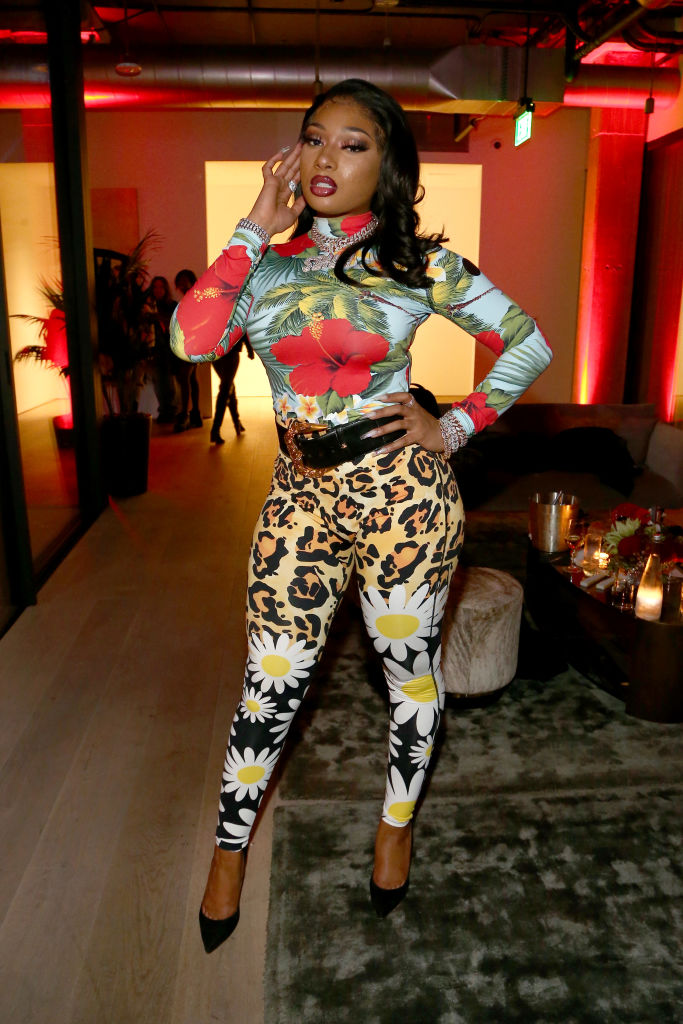 LOS ANGELES, CALIFORNIA - DECEMBER 11: Megan Thee Stallion attends A Celebration of The Fearless Women in Music Hosted by YouTube Music and Megan Thee Stallion at Spring Studios on December 11, 2019 in Los Angeles, California. (Photo by Tommaso Boddi/Getty Images)
