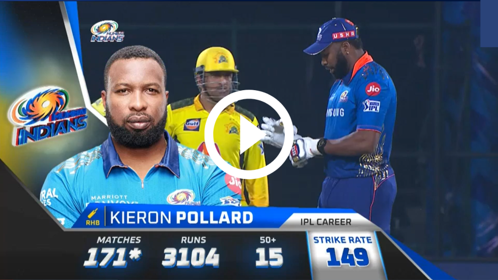 Video of Pollards's 87 in 34 balls against CSK : 8 Sixes : IPL 2021