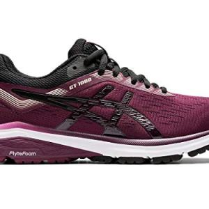 ASICS Women's GT-1000 7 Running Shoes, 9.5M, Roselle/Black