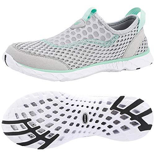 ALEADER Womens Slip On Water Shoes, Comfort Tennis Walking Sneakers