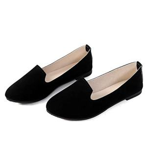 Slduv7 Women Pointed Comfortable Flat Ballet Shoes