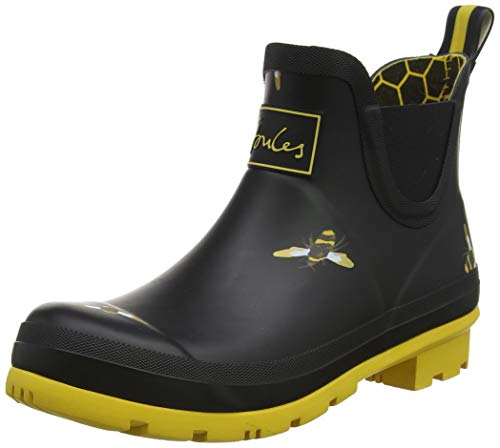 Joules Womens Wellibob Rain Boot Shoes Black