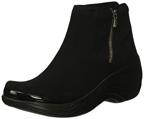 BZees Women's Zora Mid Calf Boot, Black Stretch Fabric